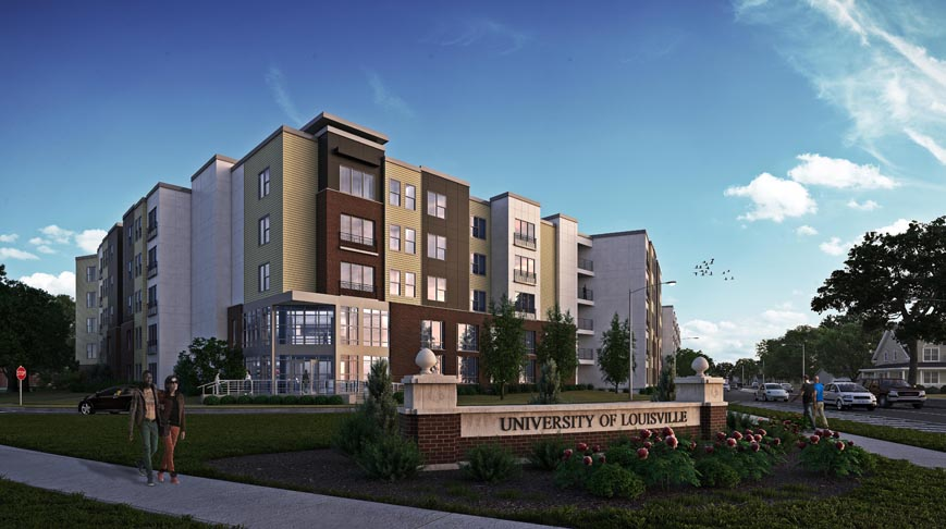 Construction begins on 45 m apartment development in - University of louisville swimming pool ...